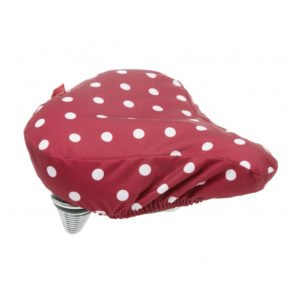 Polka Sadle Cover Red