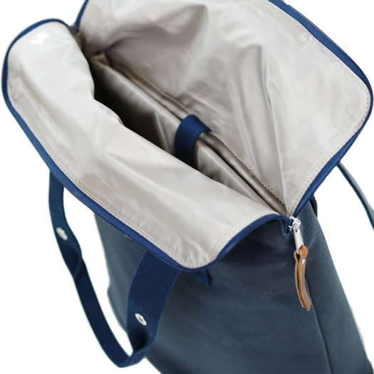 Weathergoods City Backpack Navy Inside