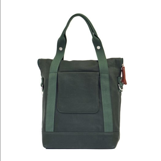 Weathergoods City Tote Green Back